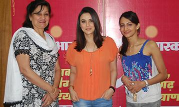 Tajinder Kaur Pro Chancellor DBU with actress and famous film star Preity Zinta - Desh Bhagat University