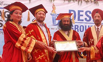 University awards honoris causa to Sri Sri Ravi Shankar Ji - Desh Bhagat University