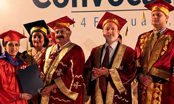 Honourable Governor of Punjab Sh. V. P. Singh Badnore confers doctorate to the passing out students of DBU - Desh Bhagat University